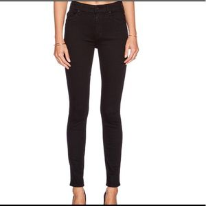 Mother jeans high waisted looker black skinny